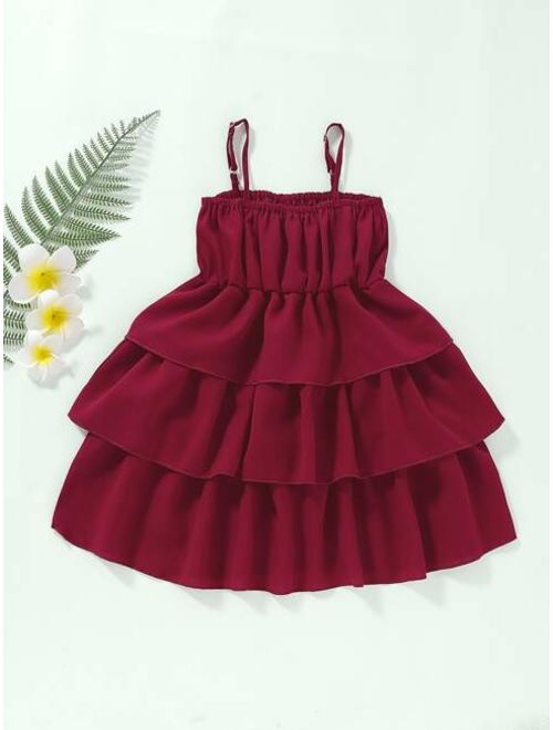 Toddler Girls Tiered Layer Slip Dress