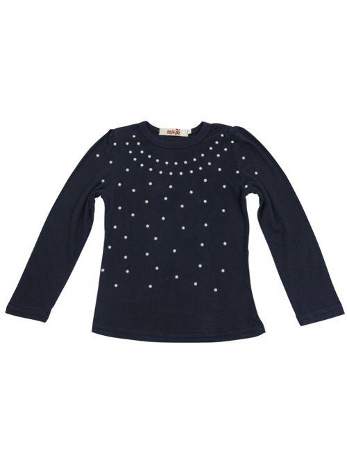 Jastore Kids Girl Cute 2PCS Diamond Clothing Set Long Sleeve Top +Dot Tutu Skirt