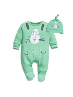 Minilove Girls' Embroidery Long Sleeve Striped Clothing Set