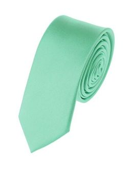 """NYFASHION101 Men's Solid Color 2"""" Skinny Tie"""