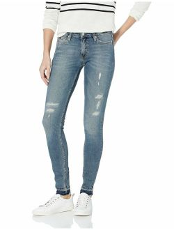 Women's Mid Rise Skinny Fit Jeans