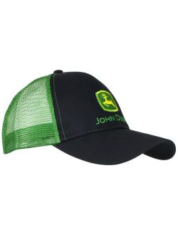 John Deere Men's Logo Contrast Mesh Back Core Baseball Cap