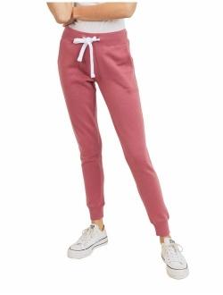 esstive Women's Basic Ultra Soft Fleece Solid Jogger Pants