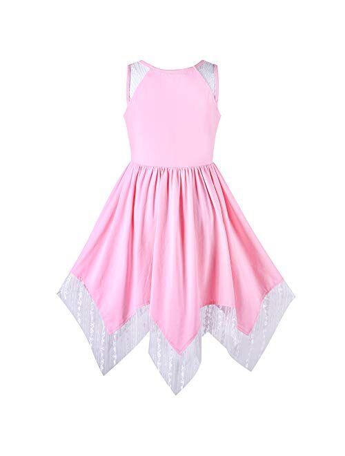 Sunny Fashion Girls Dress Purple Off Shoulder Hi-Low Skirt Bridesmaid Size 7-14