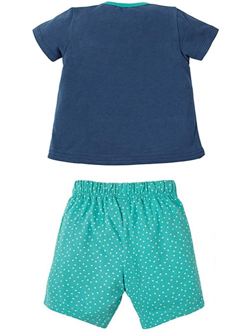 Toddler Little Baby Boy Girl Cotton Short Sleeveless Tee T Shirt Tank Top Shorts Pant 2PC Set Outfit