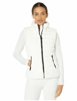 Women's Puffer Vest With Sherpa Trim