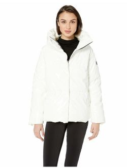 Women's Puffer Jacket With Oversized Collar