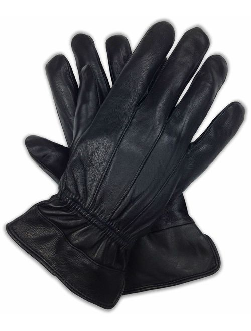 Luxury Soft Men's Genuine Leather with 3M Thinsulate Gloves