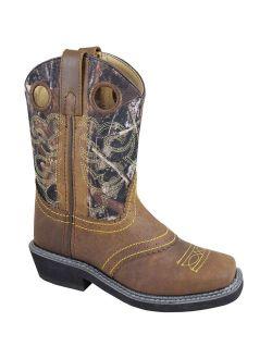 Smoky Mountain Kid's Pawnee Brown Oil Distress/Camo Western Boots 3350