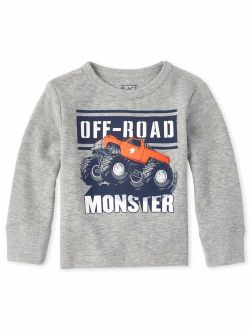 The Childrens Place Boys Toddler Graphic Thermal Top