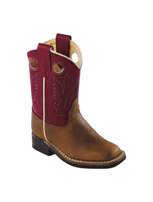 Old West Youth's Ultra Flex Broad Square Toe Boots