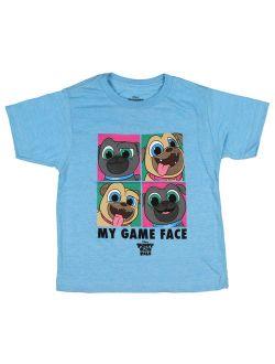 Little Girls' Toddler Puppy Dog Pals Game Face Tee, Lt. Blue (2t)