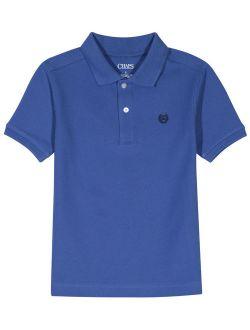 Chaps Short Sleeve Solid Polo (Little Boys & Big Boys)