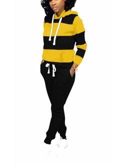 Jogging Suits for Women - Two Piece Sweatsuit Pullover Hoodies Top + Long Pants Tracksuit Set Jumpsuits