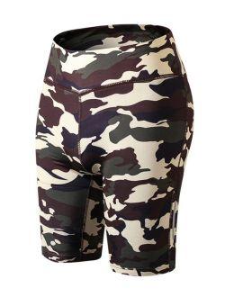 Funcee Women Night Reflective Camouflage Yoga Running Sports Shorts Short Pants
