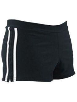 Pizzazz 1300 -BLKWHT-YL 1300 Youth Spirit Stripe Short, Black with White - Large