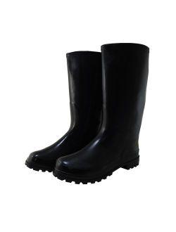 Starbay New Men's waterproof Rubber Rain Boots Black 9