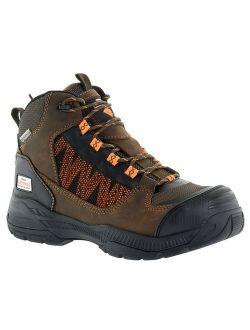 Herman Survivor Professional Series Men's Scraper 6 Inch Work Boot, ASTM Rated Composite Toe, Slip Resistant, Brown and Black