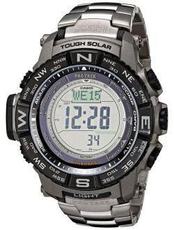 Men's Pro Trek Prw-3500t-7cr Tough Solar Triple Sensor Digital Sport Watch