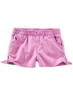 Little Girls' Side Tie Short, Purple, 3-toddler