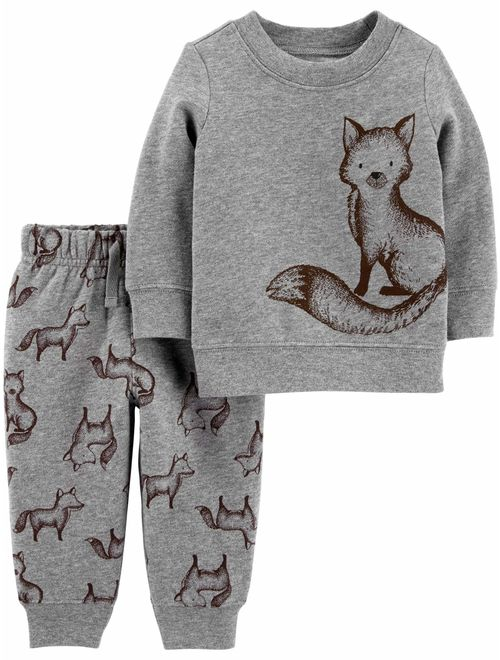 Child of Mine by Carter's Long Sleeve Shirt & Pant Set, 2 pc set (Toddler Boys)