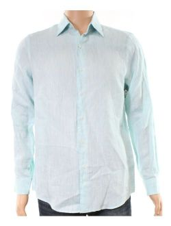 Mint Mens Small Solid Button Down Shirt