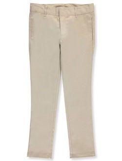 "Denice Stretch Big Girls' ""On-Seam Pocket"" Skinny Uniform Pants (Sizes 7 - 20)"