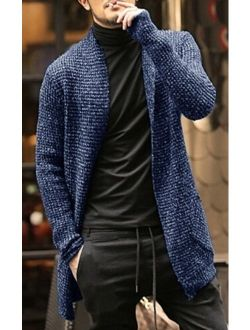 Mens Sweater Long Sleeve Cardigan Males Pull Style Cardigan Clothings Fashion Thick Warm Mohair Coat