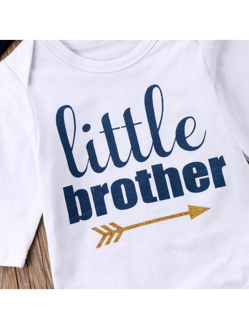 Hirigin 3Pcs Newborn Baby Boy Toddler Clothes Jumpsuit Romper Bodysuit Pants Outfits Set