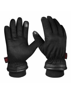 OZERO -30 Waterproof Winter Gloves Touchscreen Fingers for Driving, Motorcycle - Hands Warm in Cold Weather Thermal Gifts for Men