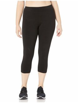 Women's Plus Size High Waist Crop Legging