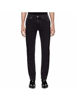 Jeans Mens 026 Denim Striped Straight Leg Jeans