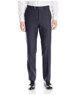 X-treme Slim Fit Dress Pants For Men Flat Front Trousers (33w X 32l, Navy)