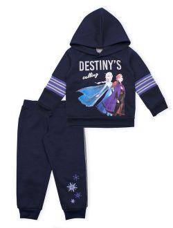 Frozen 2 Graphic Sweatshirt And Jogger, 2-piece Outfit Set (little Girls & Big Girls)