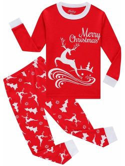 shelry Christmas Pajamas for Girls Elf Clothes Children Boys Pjs Sleepwear Stripe Pants Set