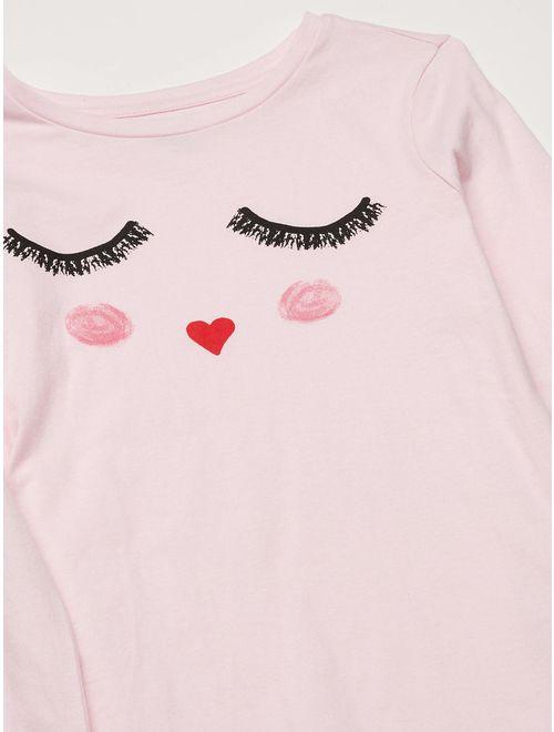 Amazon Brand - Spotted Zebra Girl's Toddler & Kids Long-Sleeve T-Shirts