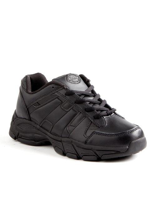 Dickies® Men's Athletic Lace Leather Slip Resistant Sneakers - Black