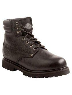 ® Men's Raider Leather Steel Toe Work Boots - Black
