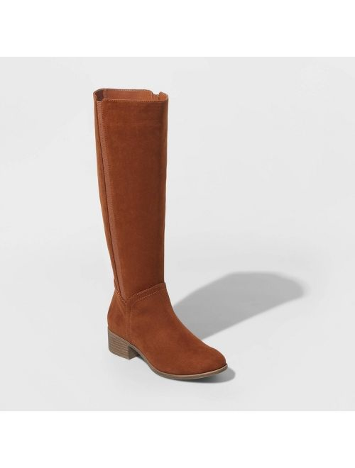 Women's Brielle Microsuede Riding Boots - Universal Thread™