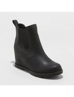 Aux Leather Wedge Booties - Universal Thread™