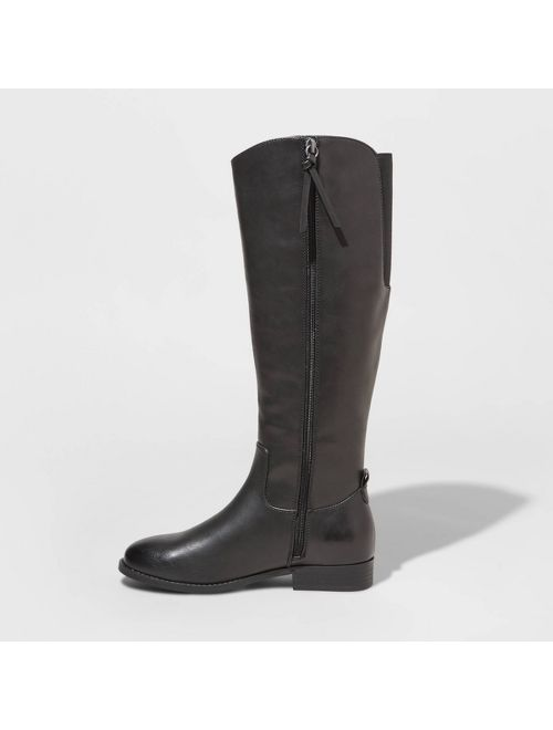 Women's Brisa Faux Leather Riding Boots - Universal Thread