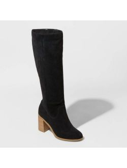 Microsuede Heeled Riding Boots - Universal Thread