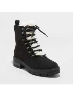 Icrosuede Sherpa Lace-up Fashion Boots - Universal Thread™