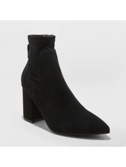 Women's Cornelia Microsuede Pointed Sock Bootie - A New Day™