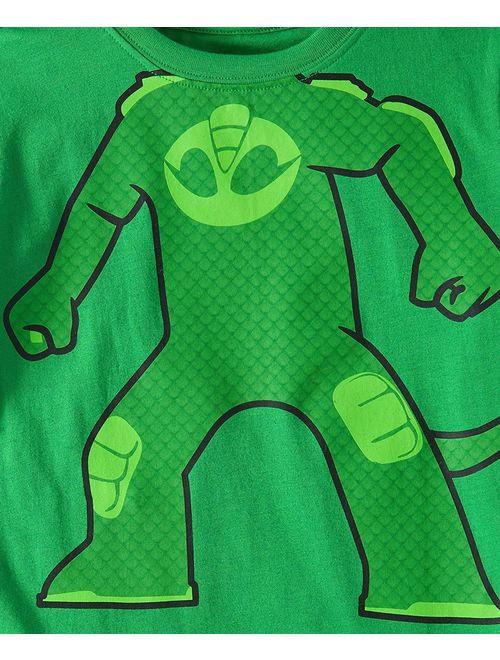 PJMASKS PJ Masks Short Sleeve T-Shirt - 2 Pack of Catboy & Gekko Short Sleeve Headless T-Shirts