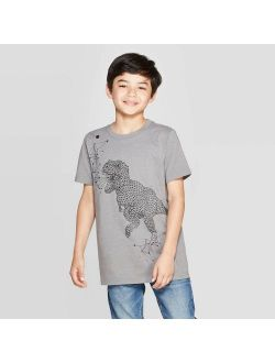 T Sleeve Graphic T-shirt - Cat & Jack™ Gray