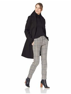 Women's Single Breasted Wool Coat With Notch Collar