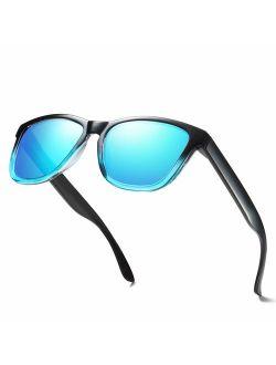 ELITERA Polarized Sunglasses For Women Men Gradient Colors Designer UV Protection
