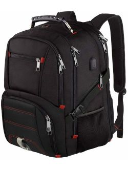 LTINVECK Extra Large Travel Laptop Backpack with USB Charging Port