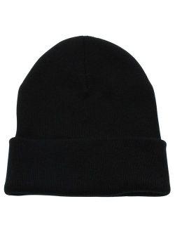 Beanie Men Women - Unisex Cuffed Plain Skull Knit Hat Cap